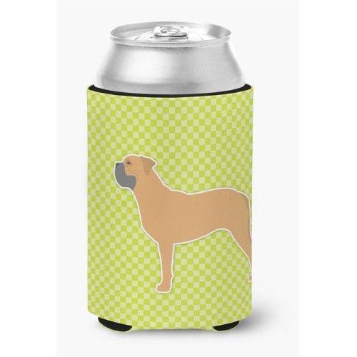 Bullmastiff Checkerboard Green Can or Bottle Hugger