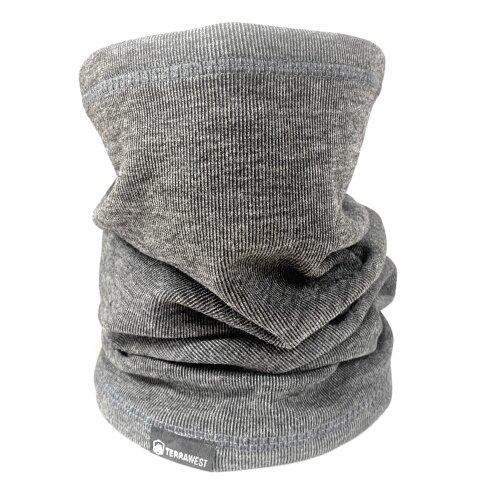 TerraWest Warm Winter Face Scarf, Neck Gaiter, Snood Black