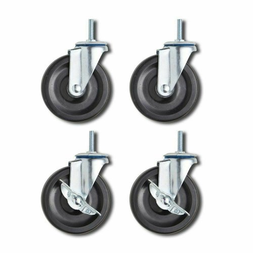 50mm 2inch M8 Threaded Castor Wheels Swivel Braked For Chiller Cabinet