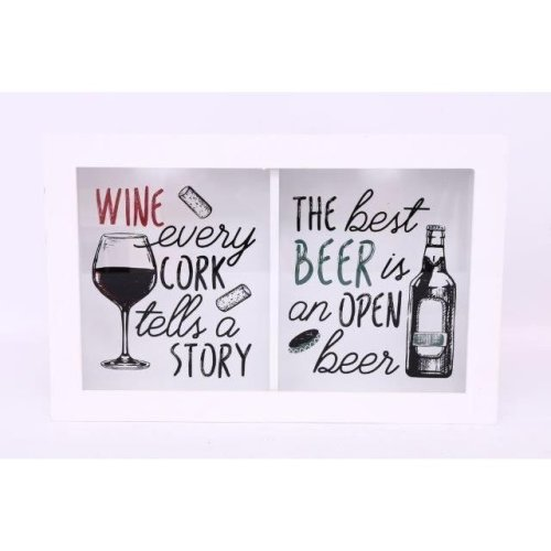 40X15.5Cm White Cork And Beer Bottle Top Holder Collector Set