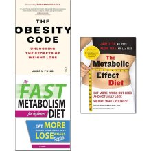 Obesity code, fast metabolism diet & metabolic effect diet 3 books Set
