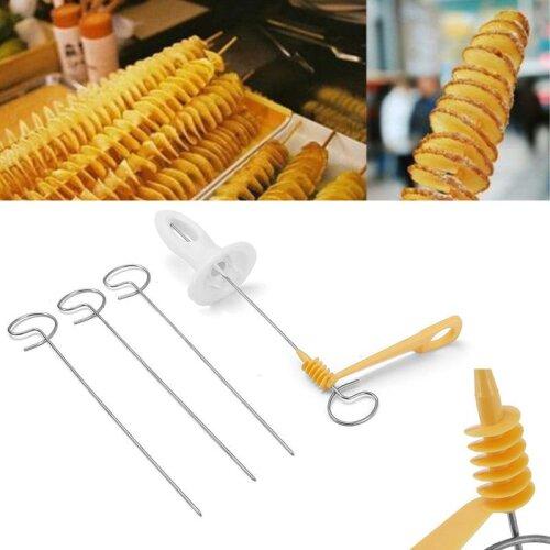Potato Twister Slicer Manual Cutter Spiral Chips