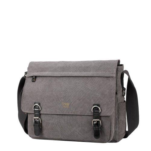 Troop London Classic Canvas Laptop Messenger Bag | Buy Laptop Bags Online | Canvas Laptop Bag | leather canvas bag