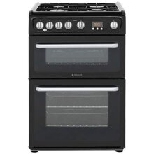 Hotpoint HARG60K Newstyle /A Gas Cooker with Gas Hob 60cm Free Standing Black