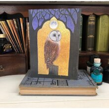 The Beautiful Moon Greetings card by Hannah Willow