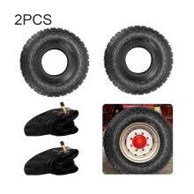 2 PACK 4.10 /3.50 - 4 Tyre & Innertube Bent Valve Truck Trolley Wheel