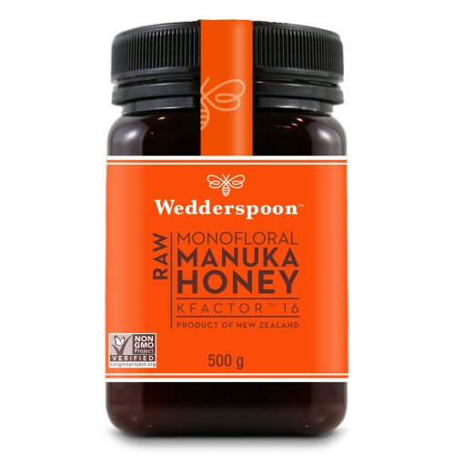 Wedderspoon  Raw Kfactor 16 Manuka Honey 500g