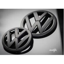 MODIFIX   VW Golf MK7 Black Matt Front & Rear Badge Emblem Gti Gte Gtd R Line (2013-2017)