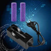 Eu Plug Ac Wall Charger Adapter For 18650 Li-ion Rechargeable Battery