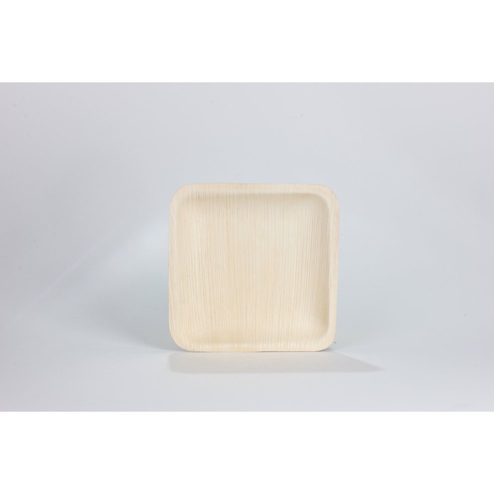 FOOGO Green Disposable Palm Leaf Plates Round Bamboo Eco friendly Biodegradable