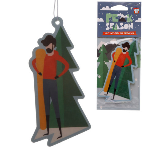 Snowboarder Mint Scented Air Freshener