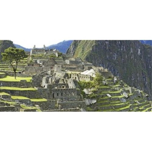Buildings on a hill  Andes Mountains Machu Pichu  Peru Poster Print by  - 36 x 12