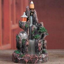 Burner Censer Mountain River Handicraft Incense Holder Waterfall Smok