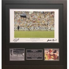 "Framed Pele/Banks dual signed 16x20"" photo with COA & proof"