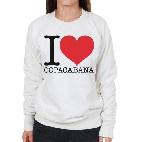 Beach Destinations I Love Copacabana Women's Sweatshirt