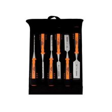 Bahco 424P-S6-PP 424-P Bevel Edge Chisel Set 6 Piece in Pouch