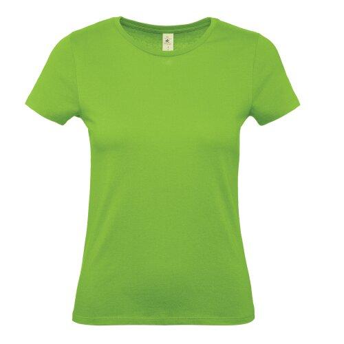 B&C Collection Womens #E150 Plain Cotton Crew Neck Short Sleeved T-Shirt Tee Top