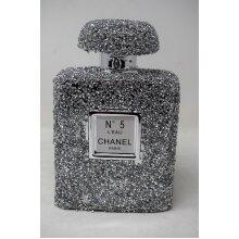 Silver travel pocket chanel perfume bottle ornament Handmade Craft
