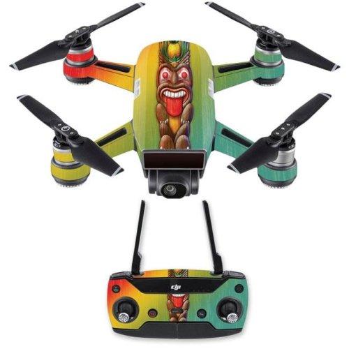 MightySkins DJSPCMB-Tiki Man Skin Decal for DJI Spark Mini Drone Combo Sticker - Tiki Man