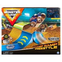 Monster Jam 1:64 Champ Ramp Freestyle Stunt Playset