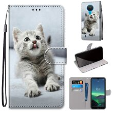 NOKIA 1.4 Case Pattern Cover Folio with kickstand cute cat