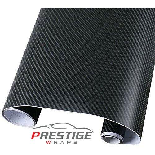4D Carbon Fibre Car Vinyl Wrap Air/Bubble Free Black 1.52m x 1m