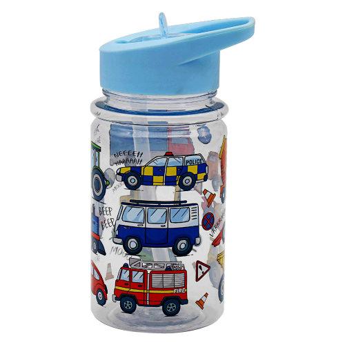 Vehicles Kids Boys Children Drinking Water Milk Bottle Folding Straw Bottle