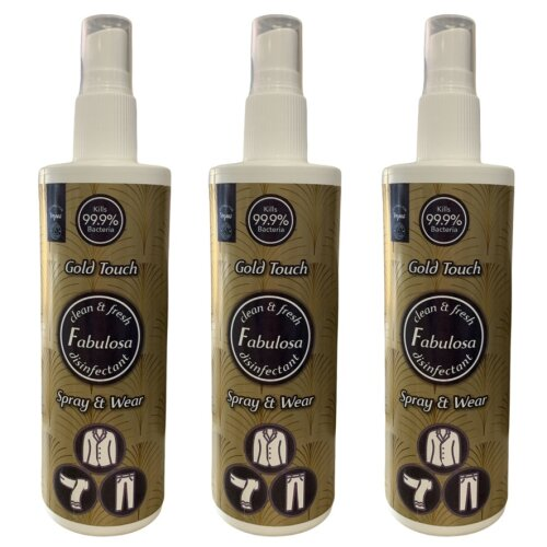 Fabulosa Disinfectant Spray & Wear Gold Touch 250 ml Vegan