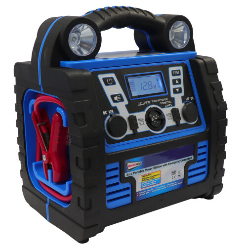 Digital 6 in 1 Portable Power Station Jump 900Amp 12V Air Compressor