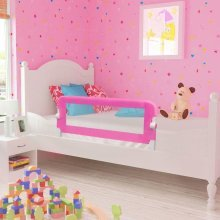 vidaXL Toddler Safety Bed Rail 102x42cm Pink Baby Kids Protective Guard Gate