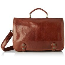 40x26x9 cm - Leather Briefcase - Made in Italy