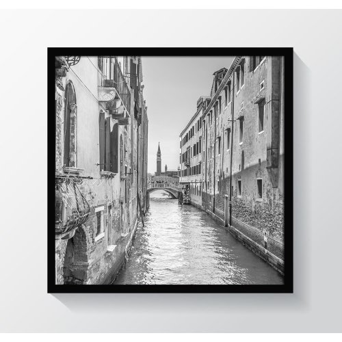 "12x12"" / 30x30cm - Oxford Black Square Photo/Picture Frame - Glass Window"