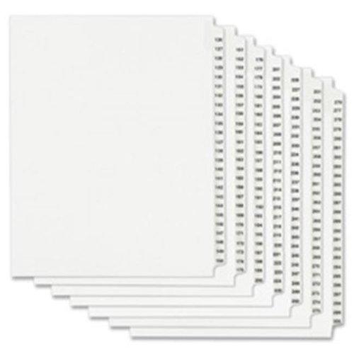 Divider, 261, Side Tab, 8.5 in. x 11 in., 25-PK, White