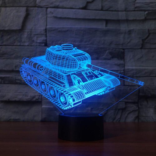 Tanks 3D Night Light Touch Base 7 Color Changing Led Table ...