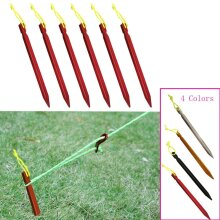 Aluminument Tent Pegs Nails With Rope Stake, Camping, Hiking Equipment, Outdoor Traveling, Sand Ground Accessories