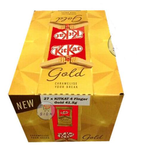 Nestle Kit Kat 4 Finger Gold Caramel Chocolate 27x41.5g