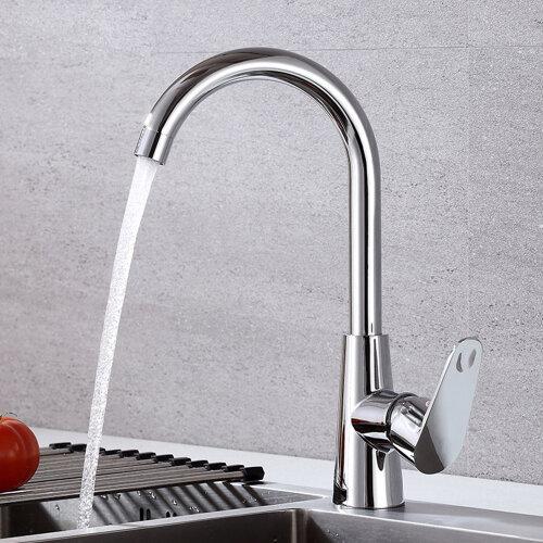 Chrome Kitchen Sink Monobloc Single Lever Swivel Spout Mixer Tap