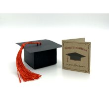 Mini Graduation Card and Mortarboard Cap Box. Funny gift for him / her