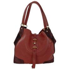 Belstaff Hobo Shoulder Bag Nottingham 38 Red Large Leather Handbag