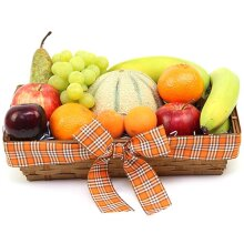Orchards Delight Fruit Basket - Fruit Gift Baskets and Gift Hampers with Personal Message Attached