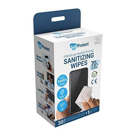 Mobile Phone & Laptop Sanitising Wipes (70% Alcohol - IPA) - Kills 99.9% of Germs (30 Wipes)