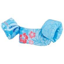 STEARNS Original Puddle Jumper Kids Life Jacket   Deluxe Life Vest for Children, Blue Flower, 30-50 pounds