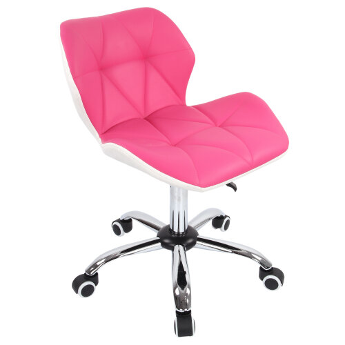 (Red) Computer Desk Mesh PU Leather Study Office Chair