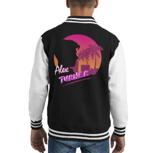 Alex Turner 80s Sunset Kid's Varsity Jacket