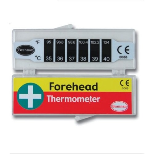 Brannan Thermometer - Forehead Strip - Fever Check Temperature 114653 Baby Kids -  forehead thermometer strip fever check temperature 114653 baby