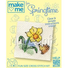 Mouseloft - Counted Cross Stitch Kit - Make Me for Springtime Collection - Daffodil and Hedgehog