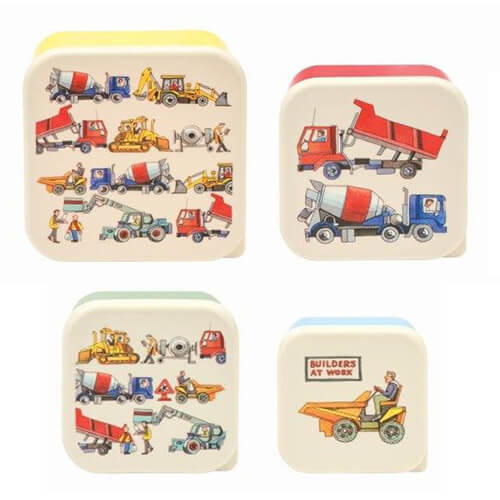 Emma Bridgewater Builders At Work Set 4 Snack Tubs