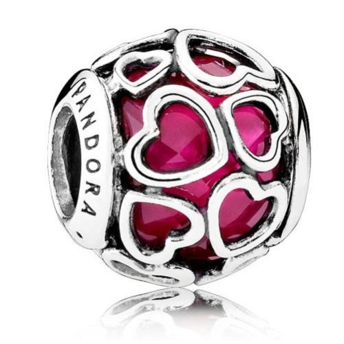 Pandora Cerise Sterling Silver Encased in Love Charm