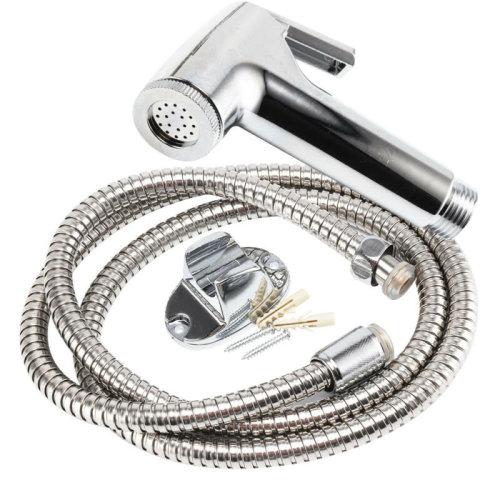 Chrome Bidet Spray Nozzle   Shower Head & Hose Set