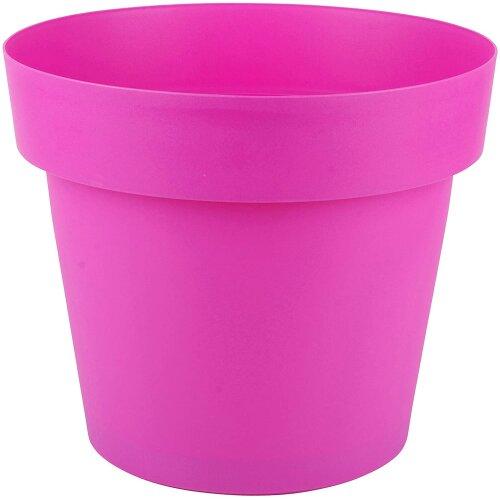 (Pink) Large Round Plant Pots 28 Litre 40cm Flower Pot Bright Coloured Large Planters
